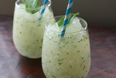 "Mint Ginger Slush ""Mint seems to make everything taste light and refreshing, and I recently discovered, it takes ice and ginger ale to frozen treat territory"""