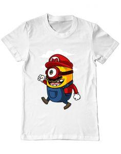 Tricou Tricou Mario minion Mens Tops, T Shirt, Fashion, Supreme T Shirt, Moda, Tee Shirt, Fashion Styles, Fashion Illustrations, Tee