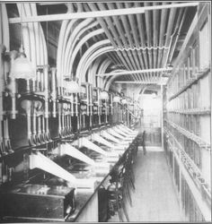 Food & clothing orders.  Pneumatic Tubes for quick payment in department stores