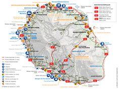Carte du réseau routier et des infrastructures de transports à La Réunion