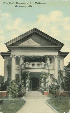 """""""'The Rest', Residence of J."""" :: Alabama Photographs and Pictures Collection Gothic Revival Architecture, Antebellum Homes, Plantation Homes, Neoclassical, Abandoned Buildings, Picture Collection, Old Houses, Alabama, Magnolia"""