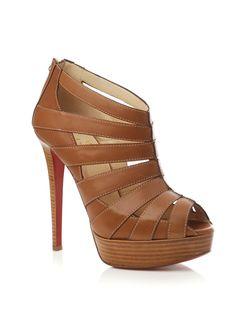 christian louboutin peep-toe multi strap sandals   cosmetics ...