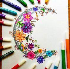Ideas tattoo mandala sun coloring pages Zentangle Drawings, Mandala Drawing, Zentangle Patterns, Mandala Painting, Tattoo Drawings, Zentangles, Doodle Patterns, Tattoos, Flower Patterns