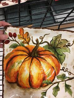 Fall Canvas Painting, Autumn Painting, Autumn Art, Canvas Art, Halloween Wood Crafts, Halloween Painting, Hallowen Ideas, Art Drawings For Kids, Painted Pumpkins
