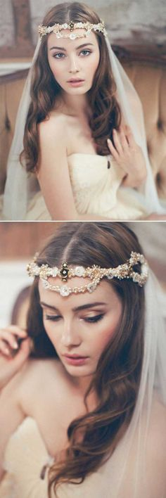 Top 20 Wedding Hairstyles with Veils and Accessories wedding haistyle forhead accessories bohemian beauty springs Wedding Forhead accessories with Veil Veil Hairstyles, Wedding Hairstyles For Long Hair, Bohemian Hairstyles, Bridal Hairstyle, Bohemian Accessories, Wedding Hair Accessories, Wedding Jewelry, Vail Bride, Bohemian Wedding Hair