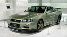 Nissan Skyline GT-R Nür in Millennium Jade Green. Not a huge fan of most shades of green but I love this colour. Skyline Gtr R34, Nissan Skyline Gt R, Nissan R34, Nissan Godzilla, Japanese Sports Cars, Japanese Cars, Automobile, Gt Cars, Race Cars