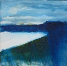 BLUE COASTLINE (SOLD) Abstraction in Acrylic. 20x20x2cm.