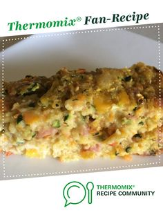 Recipe Zucchini vegetable slice by learn to make this recipe easily in your kitchen machine and discover other Thermomix recipes in Main dishes - others. Zucchini Vegetable, Vegetable Slice, Zucchini Slice, Bellinis, Dinners, Meals, Recipe Community, Lunch Boxes, Thermomix