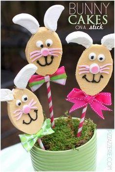 Bunny Cakes on a stick
