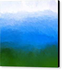 Ombre Canvas Print featuring The Sea Is Deep by Mark E Tisdale