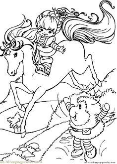 Rainbow Brite Hand Waving To Friends Coloring Page For Kids