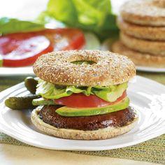 Grilled Marinated Portobello Sandwiches with Avocado #recipe