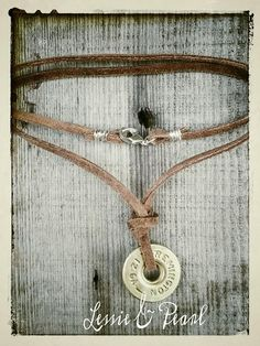 12g SHOTGUN SHELL LEATHER NECKLACE