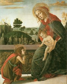 Sandro Botticelli - The Madonna and Child with the Young Saint John the Baptist, Unknown date