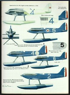 Supermarine S-4, S-5 , S-6 and S-6B SCHNEIDER TROPHY RACERS