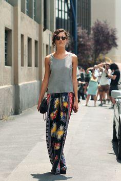 Stylist Giulia Tordini in Dark Level w/ Illesteva Sunglasses