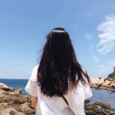 Love the long black straight hair