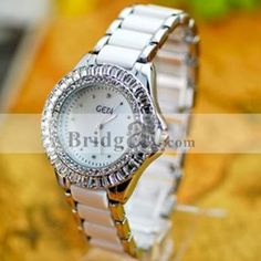 Luxury Dial Case Watch for Women with Crystals Surrounding: USD $23.60