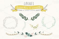 Check out Vintage Laurel & Wreath designs by Summit Avenue on Creative Market