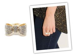 Luxe Pave Bow Ring by t+j Designs from Ali Fedotowsky on OpenSky