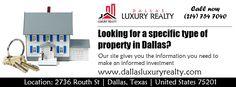Find your dream home in Dallas