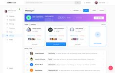Dashboard Meeting + Message designed by Divan Raj . Connect with them on Dribbble; Dashboard Ui, Dashboard Design, Wireframe Design, App Design, Free Dashboard Templates, Ui Web, Web Layout, User Interface Design, Web Application