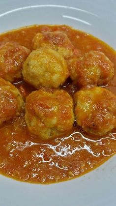 Albondigas, Risotto, Ethnic Recipes, Blog, Tomato Gravy, Veggie Food, Healthy Food, Eggplant Meatballs, Healthy Recipes