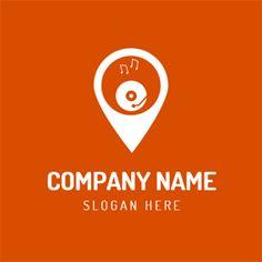 White Disk and DJ logo design Custom Logo Design, Custom Logos, Dj Logo, Online Logo, Music Logo, Logo Maker, Company Names, Slogan, Business Names