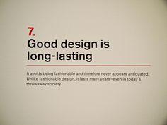 7. Dieter Rams: Principles for Good Design