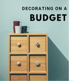 decorating on a budget: where to splurge and where to save Decorating On A Budget, Filing Cabinet, Camper, Budgeting, Crafty, Storage, Furniture, Home Decor, Purse Storage