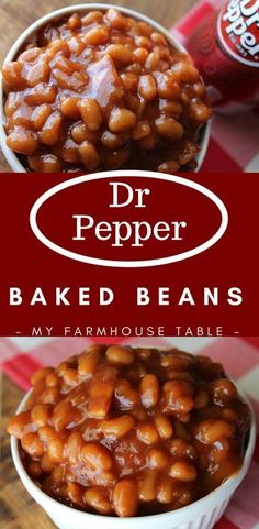 Side dish recipes 294141419412830893 - Dr Pepper Baked Beans Easy Baked Bean Recipe Baked Beans with Bacon Homemade Baked Beans Grilling Side Dishes Potluck Side Dish My Farmhouse Table Source by Grilled Side Dishes, Cookout Side Dishes, Cookout Food, Potluck Dishes, Side Dishes Easy, Veggie Dishes, Food Dishes, Camping Side Dishes, Barbeque Side Dishes