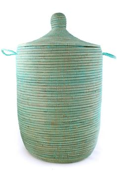 THE WELL APPOINTED HOUSE - Luxury Home Decor- Large Solid Aqua African Prayer Mat Hamper