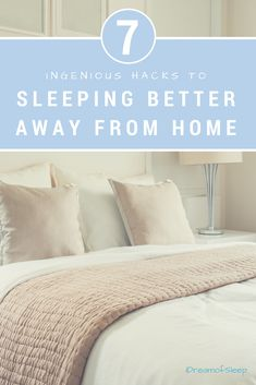 7 Ingenious Hacks to Sleeping Better Away from Home. Don't suffer from hotel room insomnia when you're on a trip. Use these easy hacks on your next vacation. They will unlock the secrets to sleeping better away from home, naturally and easily. Effects Of Insomnia, Insomnia Help, Insomnia Causes, Insomnia Remedies, Need Sleep, Sleep Help, How To Get Sleep, Have A Good Night, Good Night Sleep