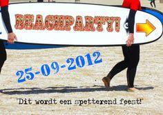 beachparty zelf invullen a - Uitnodigingen - Kaartje2go