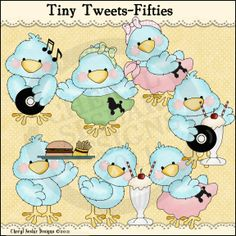 Tiny Tweets Fifties 1 - Clip Art by Cheryl Seslar : Digi Web Studio, Clip Art, Printable Crafts & Digital Scrapbooking!