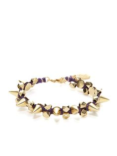 Cone Spike & Faceted Bead Bracelet by Ettika Jewelry at Gilt
