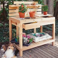 Cedar Wood Windsor Potting Bench