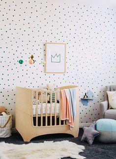 Gender Neutral Nurseries by Made of Sundays | Check the FUNDAYS blog for some sweet Gender Neutral Nursery inspo!