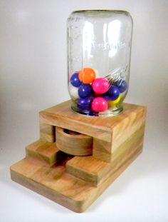 Gumball dispenser wooden candy machine by ImpulsiveCreativity, $50.00