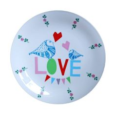 Love plate made to order. @ Ninainvorm