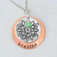 impressart mandala metal stamping copper alkeme necklace
