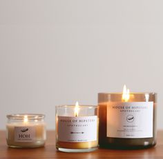 HOUSE OF HIPSTERS:DIY - Candle Packaging -just give inexpensive candles new labels, personalise them for housewarming gifts etc