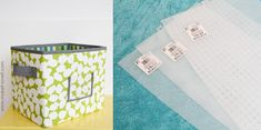 How to make Fabric Storage Boxes with Plastic Canvas Sheets