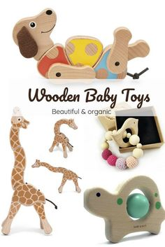 Check out our collection of the most beautiful, organic wooden baby toys. Your baby can rotate, spin and swivel them or gnaw on for teething