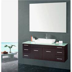 Eviva Ikaroâ® Medium Oak Modern Wall Mount Bathroom Vanity With Endearing Designer Bathroom Cabinet 2018
