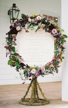 Greenery and Floral Wedding Wreaths