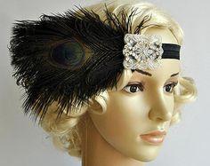 Flapper Feather HeadbandThe Great Gatsby by BlueSkyHorizons