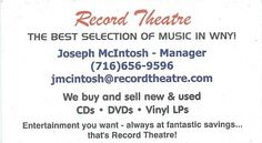 Siren records monterey ca business card record store business record theatre buffalo ny business cardsbuffalotheatrelipsense reheart Gallery