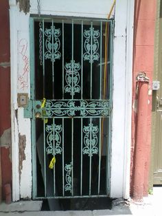 Beautiful Wrought Iron Gate And Corinthian Columns In The