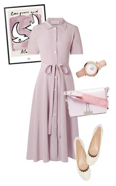 """""""dress"""" by masayuki4499 ❤ liked on Polyvore featuring Mansur Gavriel, Chloé, Off-White and Links of London"""